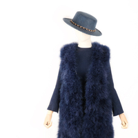 Winter Real Fur Women Genuine Ostrich feather Vest Feamle Fashion Fur Waistcoat Lady Warm Streetwear Autumn Top New 8 Color