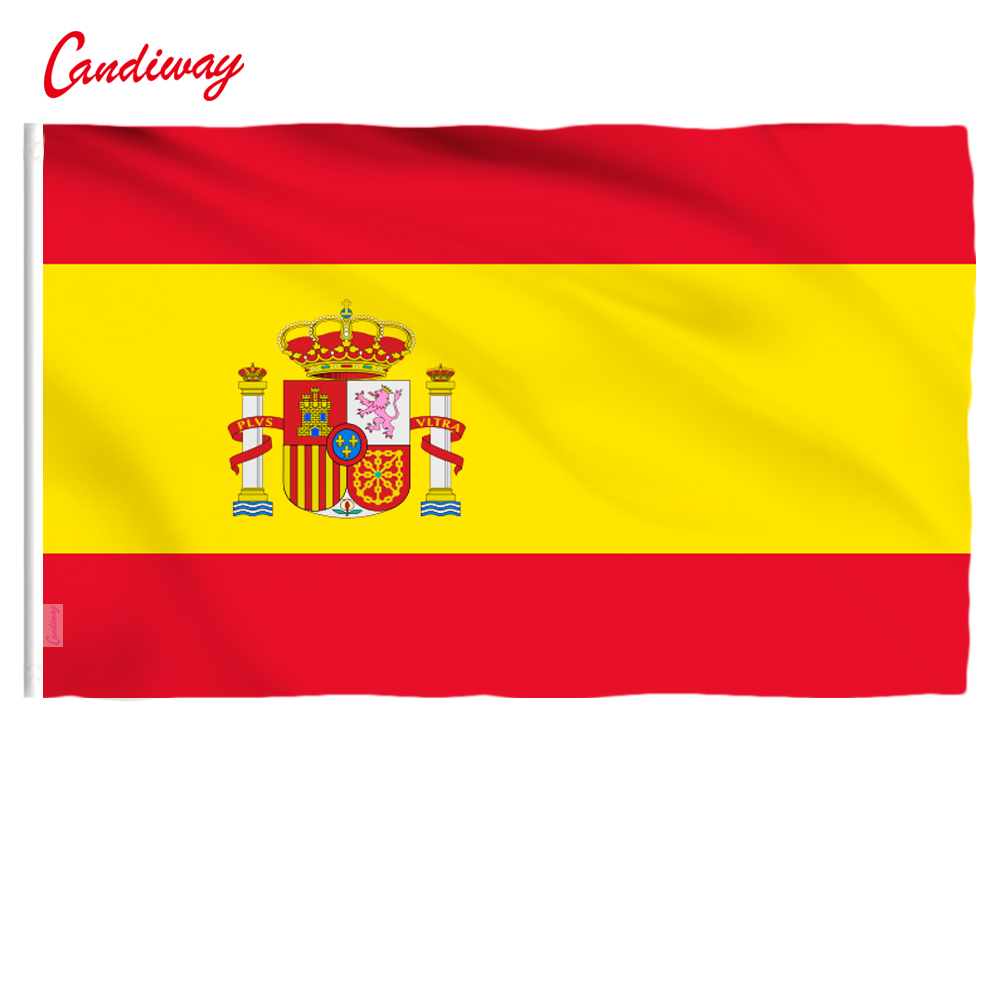 Spanish Flag Polyester Flag Banner for Festival Home