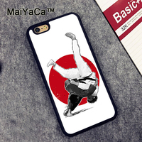 MaiYaCa Judo Slim Rubber Back Cover Cover Fundas for iPhone 6 6S Phone Cases Protective Case for iPhone 6s