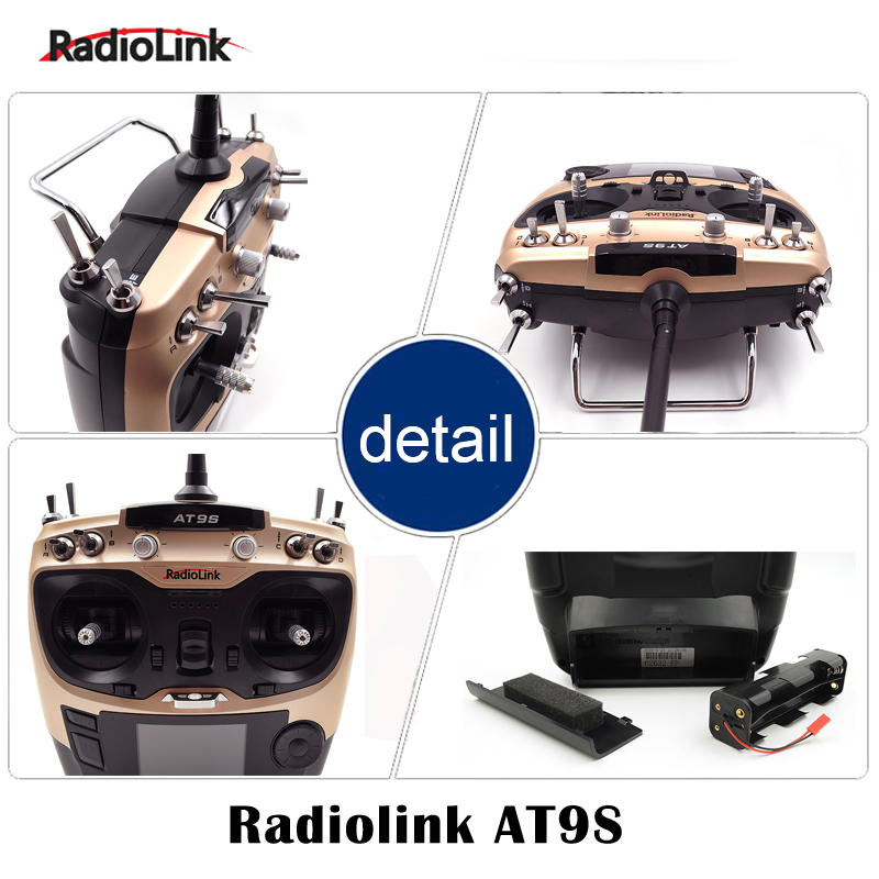 AT9S 2.4G 9CH system transmitter with R9DS receiver AT9 remote control RC quadcopter helicopter Radiolink