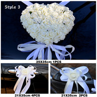 2019 NEW Wedding centerpieces Car Decorative Flowers pure white color Wedding artificialFlowers Wreath Decorative fake Flowers