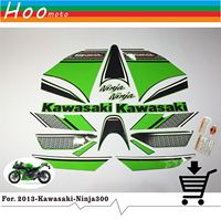 Ninja 300 Full Decals Stickers Graphics Kit Set Motorcycle Whole Vehicle 3M Decals Stickers For Kawasaki