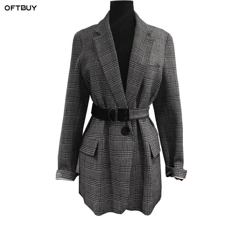 provide plenty of huge inventory many styles US $39.35 40% OFF OFTBUY 2019 vintage office ladies blazer feminino elegant  plaid slim blazer women blazers and jackets frock coat velvet jacket-in ...