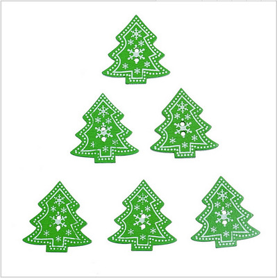 Us 3 45 50pcs Lot Diy Wooden Scrapbook Painted Sewing Crafting Accessories Christmas Stocking Xmas Tree Pattern For Christmas Decor In Pendant