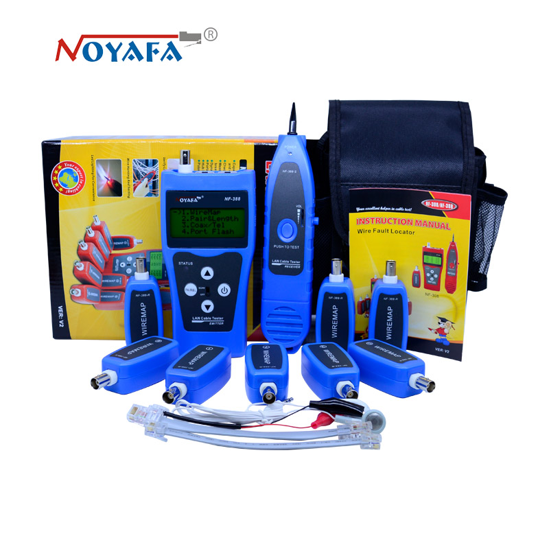 High Quality Cable tester tracker Network wire tester Cable tracker RJ45 RJ11 NF-388B English version цена