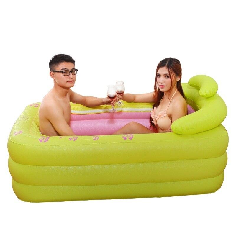 Baignoire Pliable pédicure Spa bassen Ogrodowy Opblaasbaar Gonfiabile Banheira Inflavel bain Sauna bain à remous Baignoire gonflable
