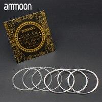 Ammoon AGS-02 Klassische Gitarre Saiten Normalen Spannung Transparent Nylon Silber-Überzogene Kupfer 6-Pack (.028-.045)