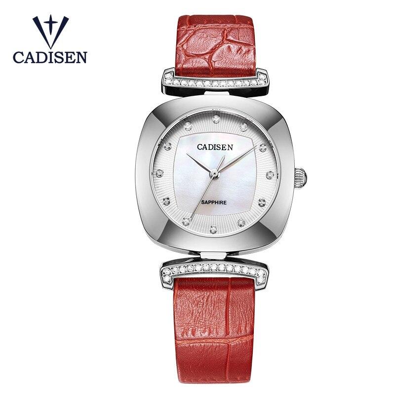 2017 CADISEN marque de luxe montres pour femmes nouveau genève Quartz créatif décontracté montres femme horloge Relogio Feminino