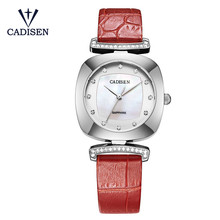 Brand Cadisen Ladies Watch New Geneva Quartz-Watch Leather Srtap Rhinestone Women Watches Clock Relogio Feminino