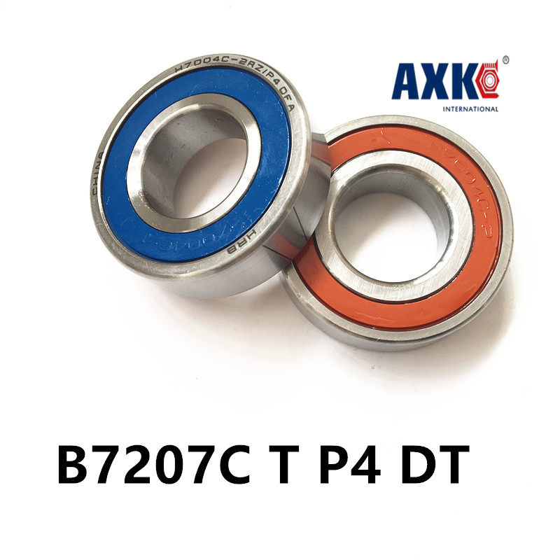 1 pair AXK  7207 7207C B7207C T P4 DT 35x72x17 Angular Contact Bearings Speed Spindle Bearings CNC DT Configuration ABEC-7 1pcs 71901 71901cd p4 7901 12x24x6 mochu thin walled miniature angular contact bearings speed spindle bearings cnc abec 7