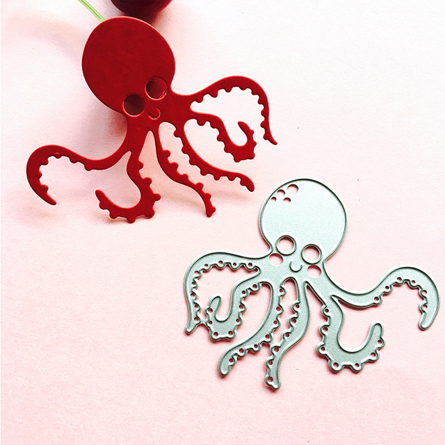 Octopus Metal Cutting Dies for Diy Scrapbooking Paper Card Album ...