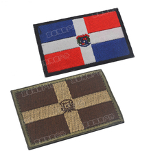 Dominican National Flag Embroidery Patch Embroidered Military Tactical Armband Fabric Sticker Sewing Applique