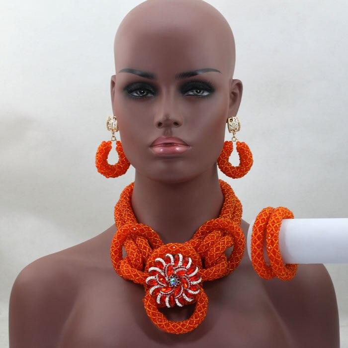 Popupar African Beads Costume Jewelry Set Orange Nigerian Wedding Party Big Beads Set Bridal Jewelry Sets Free Shipping ALJ464Popupar African Beads Costume Jewelry Set Orange Nigerian Wedding Party Big Beads Set Bridal Jewelry Sets Free Shipping ALJ464