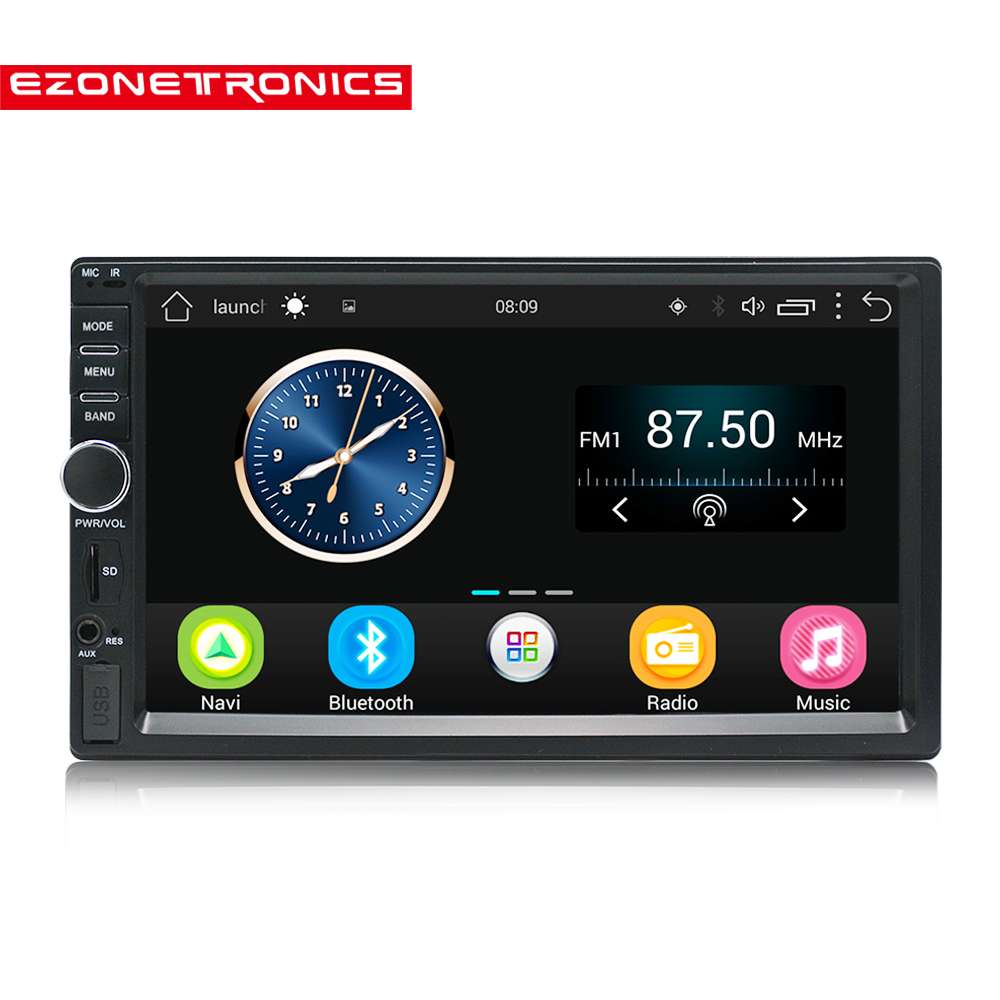 18New 2 Din Android Car Radio Stereo 71024*600 Universal Car Player GPS Navigation Wifi Bluetooth USB Radio Audio Player No DVD car dvd gps android 8 1 player 2din radio universal wifi gps navigation audio for skoda octavia fabia rapid yeti superb vw seat