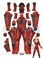 Carnage Gwen Spider Female Costume Red Elasticity Spandex Tight Adult Spiderman Cosplay Zentai suit Custom Free shipping