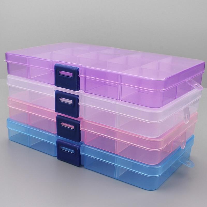 1 Stücke Kunststoff 6/815 Lagerung Boxen Slots Einstellbare Verpackung Transparent Werkzeug Fall Handwerk Organizer Box Schmuck Zubehör Attraktive Designs;