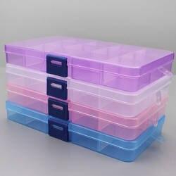 1 шт. пластик 6/815 хранения коробки Слоты Регулируемый упаковка прозрачная инструмент случае Craft Организатор box ювелирные изделия интимные