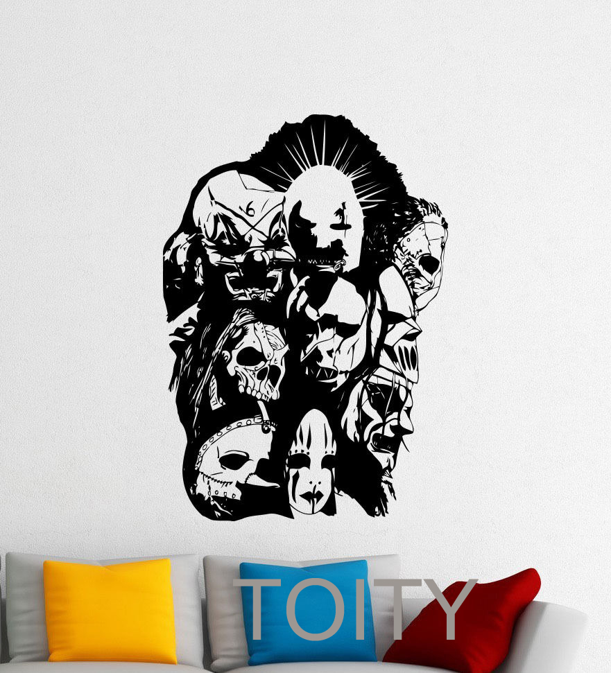 compare prices on band decals online shopping buy low price band slipknot wall vinyl decal rock heavy metal band music sticker art decor bar studio club restaurant