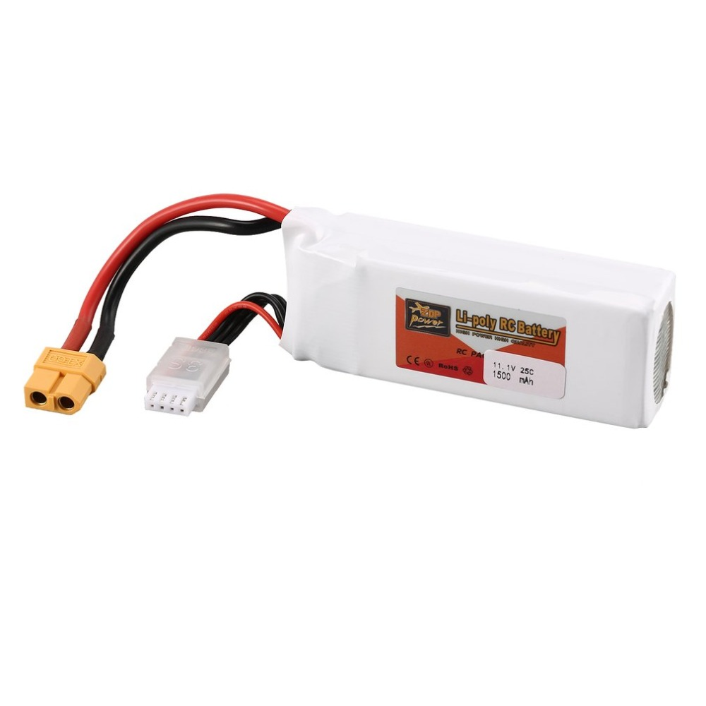 High Quality ZOP Power 3S 11.1V 1500MAH 25C Battery XT60 Plug Rechargeable Lipo Battery