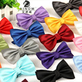 Frete grátis 2015 Nova Formal comercial gravata borboleta masculino sólida cor arco casamento laços para homens doces borboleta cor de arco empate