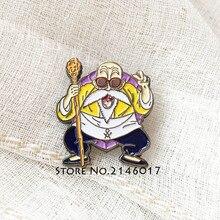 1pcs Newly Son Goku Master Roshi Tie Brooch Freemasons Apron Masonic Badge Japanese Anime Backpack Pins Lapel Pin
