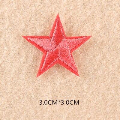 1 шт. смешанные нашивки со звездами для одежды, железная вышитая аппликация, милая нашивка эмблема на ткани, одежда, аксессуары для одежды DIY 61 - Цвет: 61I