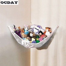 OCDAY Kids Baby Doll Bath Tub Toy Storage Household Dirty Laundry Mesh Hanging Bag Basket Hammock Net for Stuffed Plush Toys(China)