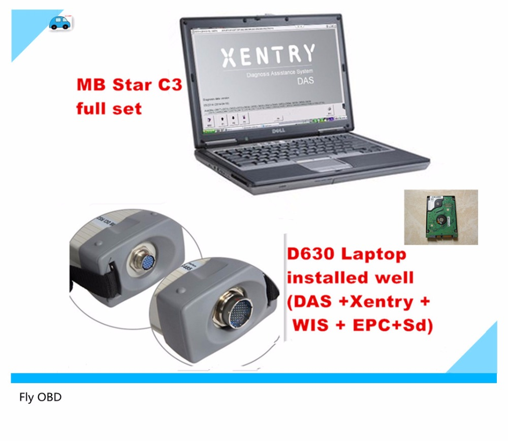 2017 top diagnostic tool for mercedes mb star c3 mb star c3 full set for cars