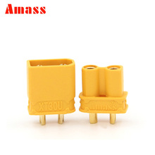 2pairs Amass XT30U 2MM Bullet Connectors Plugs for RC Lipo Battery