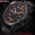 Mais novo CURREN quartzo relógio reloj hombre relogios masculinos de luxo famosas marcas horloge Relógios Relógio Pulseira de Couro de Negócios