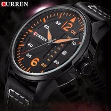 Lo nuevo reloj hombre reloj de cuarzo CURREN 2016 relogios masculinos de luxo marcas famosas Reloj con Correa de Cuero de Negocios horloge