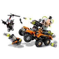 LEPIN 07914 Batman Movie Bane Toxic Truck Attack Bat Mutant Leader Building Block Toys For Children