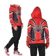 New Cosplay Avengers endgame hoodie Steel Spiderman Sweater Halloween Costume carnaval Jacket Sweatshirts