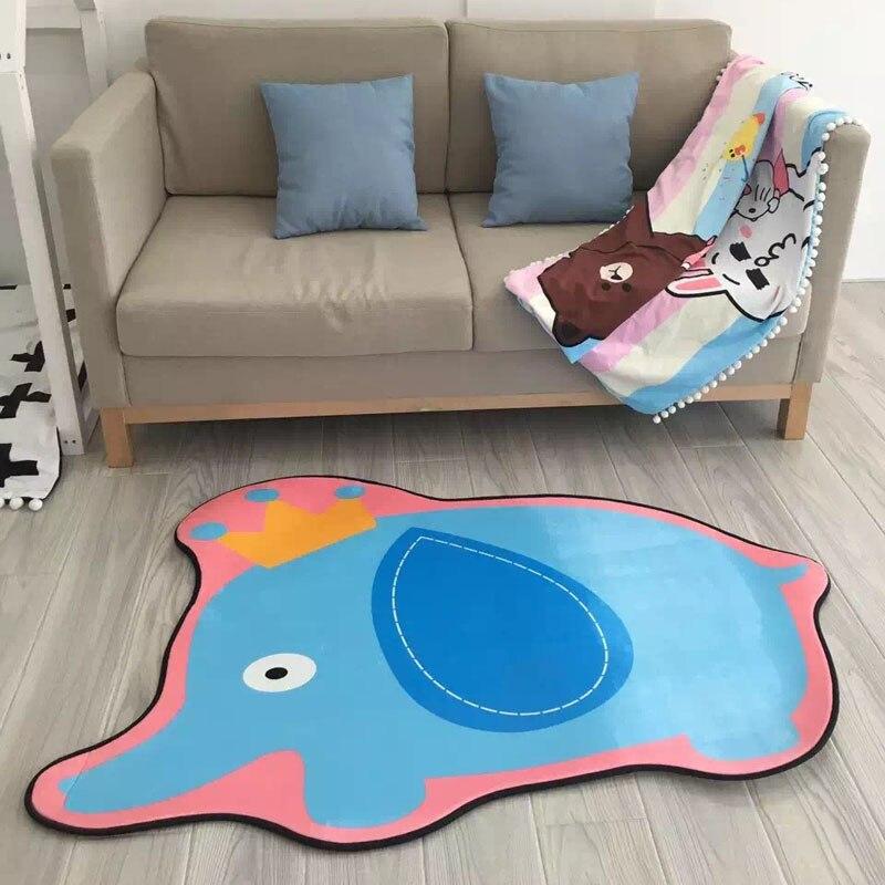 110*140 CM enfants chambre flanelle tapis Machine lavable animaux formes tapis Anpanman jaune canard Cactus tampons chambre enfant jeu tapis