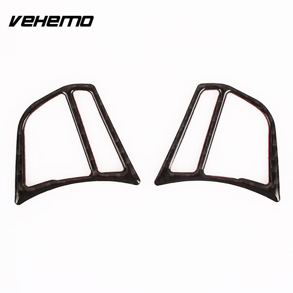 VEHEMO Carbon Fiber Decor Trim Fiber Cover Car Steering ...