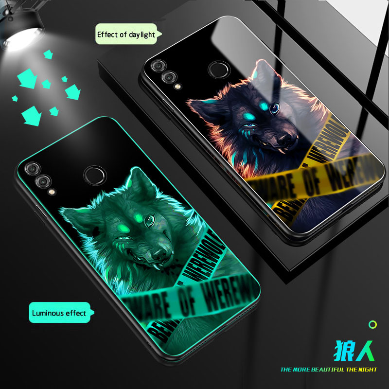 Luminous Glass Cases For <font><b>Xiaomi</b></font> <font><b>redmi</b></font> <font><b>7</b></font> 7A note <font><b>7</b></font> 7pro Glass <font><b>back</b></font> <font><b>Cover</b></font> For Mi 9T pro <font><b>redmi</b></font> K20 pro Tempered Glass Phone case image