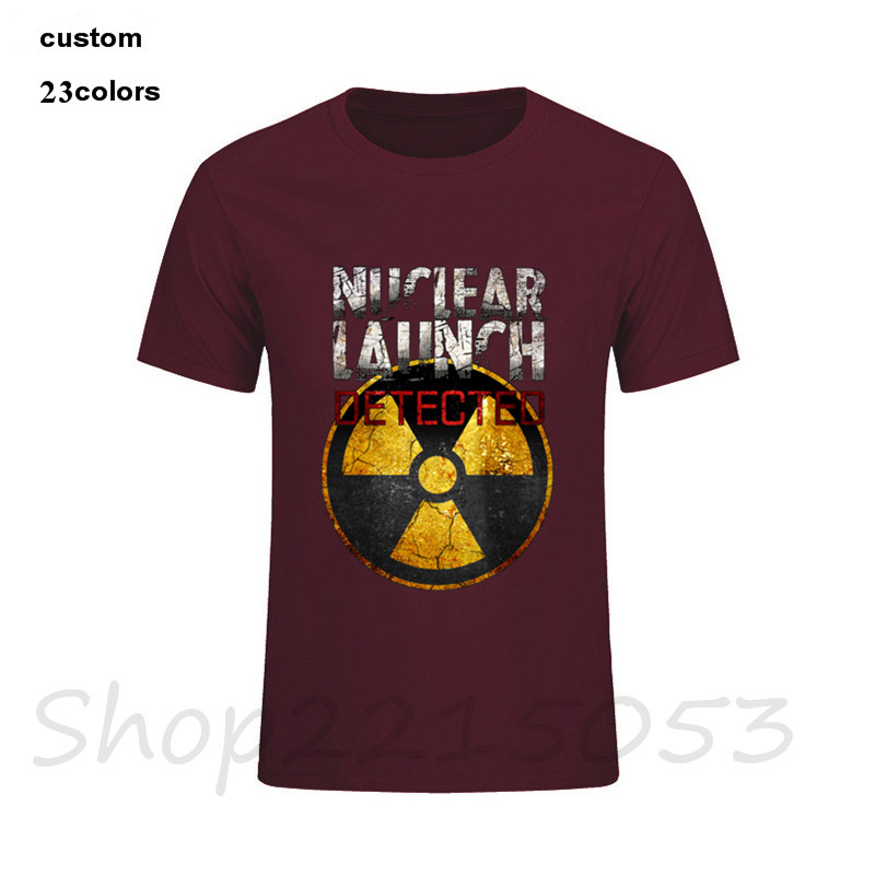 2018 Nuclear Launch Detected Mens T Shirts Short Sleeved Tee T-Shirt Fashion Male TShirts assault dosimeter submarine battery