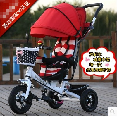 Child tricycle Free shipping / with damping / Jinming tricycle /Childrens bicycles/Baby push car