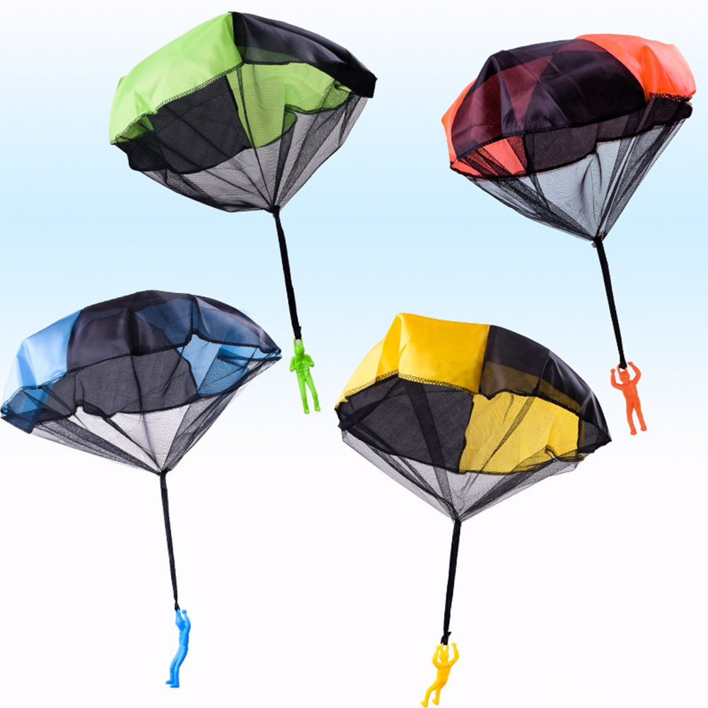 Gift Game Educational Children Kids Imitate Mini Play Soldier Outdoor Sports Funny Parachute Toy Hand Throwing