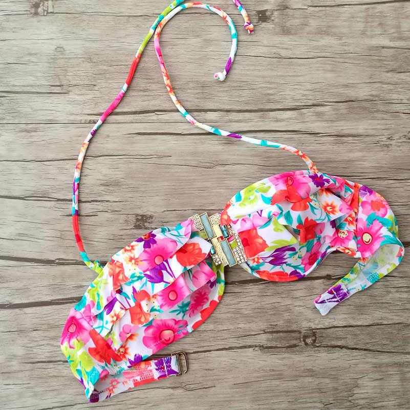 Mélangeur bustiers pour femmes maillots de bain maillots de bain imprimé Floral maillots de bain Designer Secret sous-fil diamant natation biquini UP