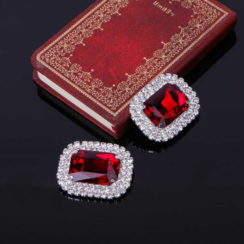 1 Pair New Shoe Clips Shoe Decorations Acrylic Rhinestone Alloy Glass Wedding Boot Jewelry Shoe Accessories 2018 Fashion