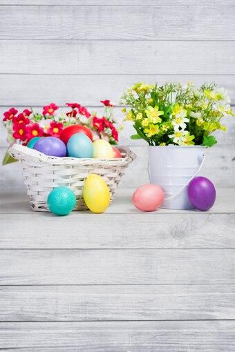 Allenjoy 10feet*20feet(300cm*600cm) White photography backdrops background photo studio props Flower pot Baskets