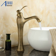 12″ Antique Brass Faucets Bathroom basin Faucet Kitchen Sink mixer tap 9028A