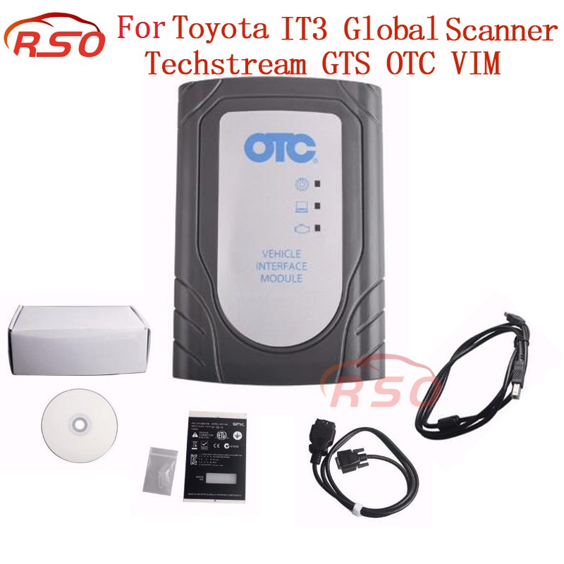 Best Price for To-yo-ta IT3 V13.10.019 Global Techstream GTS OTC VIM OBD Scanner Tool better than To-yo-ta intelligent tester 2