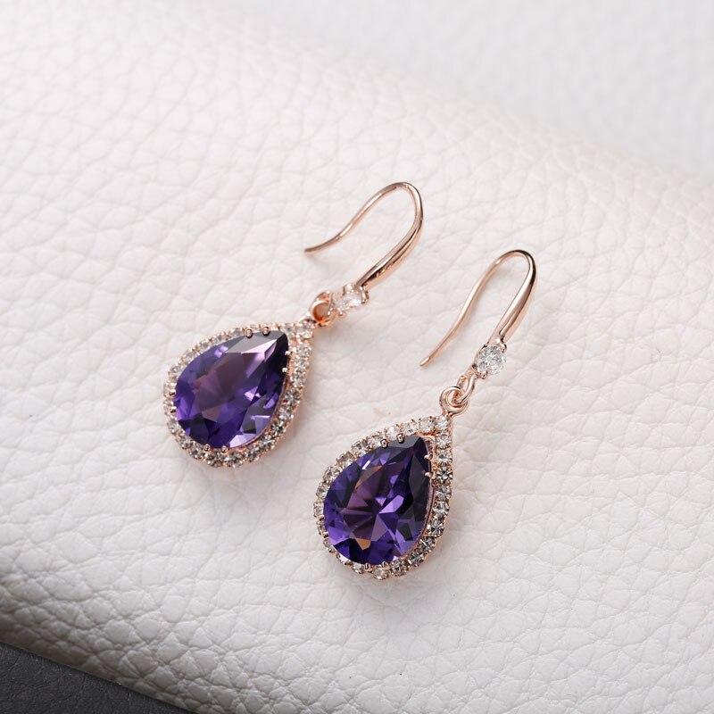 Manxiuni AAA Κυβικά Ζιρκονία Drop - Κοσμήματα μόδας - Φωτογραφία 4