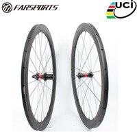 Farsport FSC50-TM-23 DT240 (36 Catracas) 50mm 50 23mm 700c roda tubular de carbono  china super leve tubular de carbono aro da roda de bicicleta