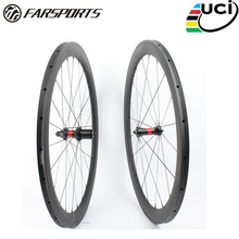 Farsport FSC50-TM-23 DT240(36 Ratchets) 50mm 23mm 700c wheel carbon tubular 50, China super light tubular carbon bike wheel rim