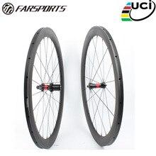 Farsport FSC50-TM-23 DT240(36 Ratchets) 50mm 23mm 700c wheel carbon tubular 50, China super light tubular carbon bike wheel rim