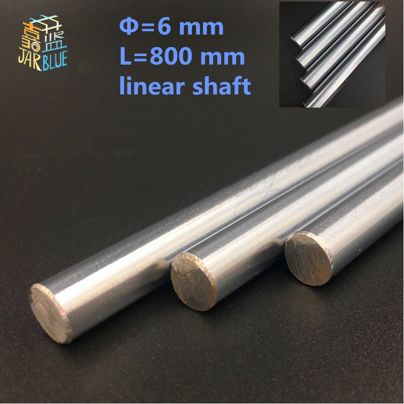 Free Shipping 4pcs/lot of diameter 6mm 800mm linear shaft harden linear rod for xyz cnc parts cnc router free shipping ptfe stir rod for overhead stirrer