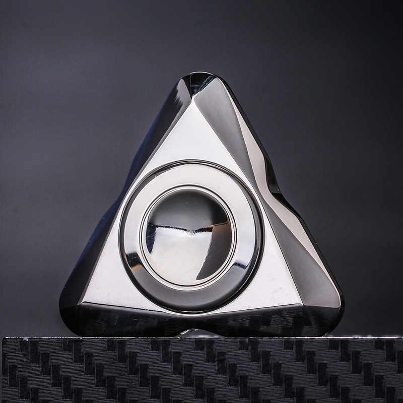 10 видов стилей новый треугольный Нержавеющаясталь из металла, ВДГ ручной Спиннер для пальцев стресс три-Спиннер для облегчения симптомов аутизма и СДВГ беспокойство стресс подарок